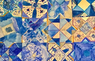Art class bursaries - Islamic tiles designed by Young Artists Club